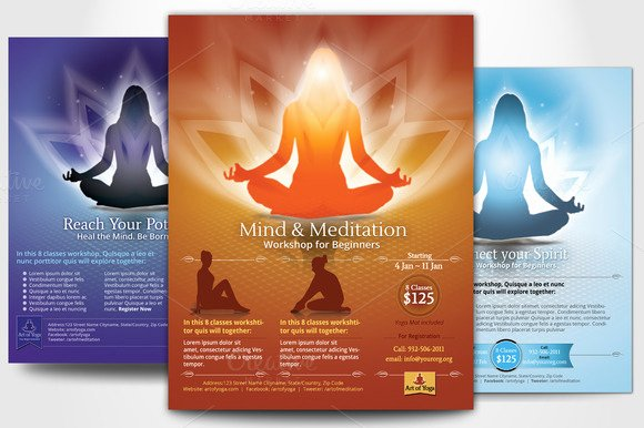 Yoga Flyer Template Free Elegant 20 Beautiful Yoga Flyer Templates