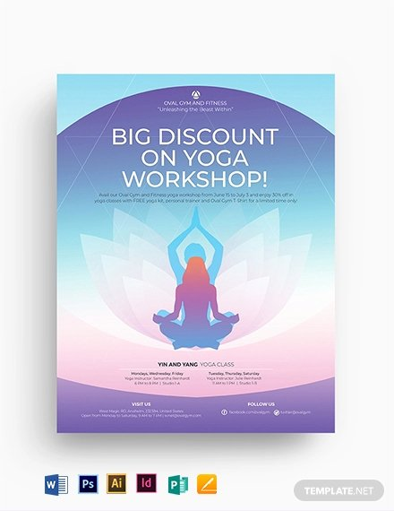 Yoga Flyer Template Free Fresh Free Yoga Flyer Template Download 882 Flyers In Psd