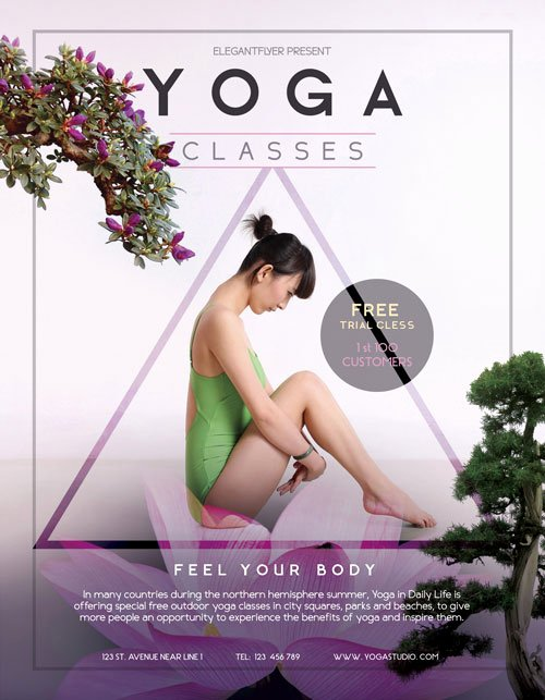 Yoga Flyer Template Free Fresh Free Yoga Flyer Template Download Free Psd Flyer Designs
