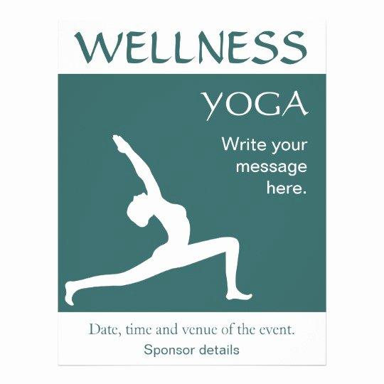 Yoga Flyer Template Free Fresh Yoga Pose White Silhouette Aqua Blue Teal Flyers
