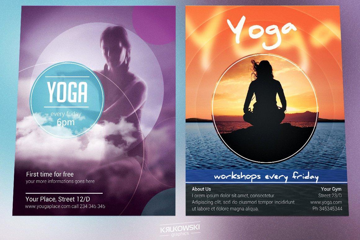 Yoga Flyer Template Free Lovely Yoga Flyers Bundle