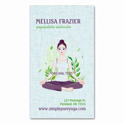 Yoga Instructor Business Card Awesome 286 Best Yoga Instructor Business Cards Images On Pinterest