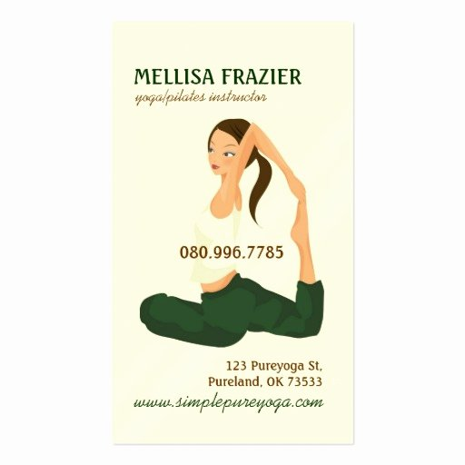 Yoga Instructor Business Card Awesome Yoga Pilates Meditation Business Instructor Double Sided Standard Business Cards Pack 100