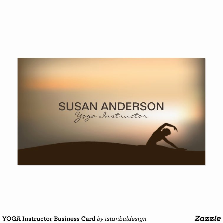 Yoga Instructor Business Card Best Of Yoga Instructor Business Card