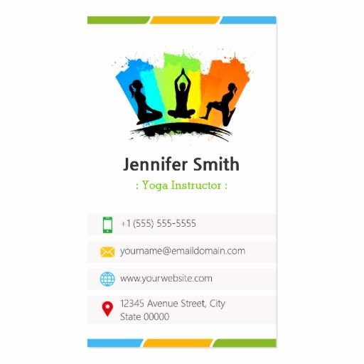 Yoga Instructor Business Card Fresh 295 Best Yoga Instructor Business Cards Images On Pinterest