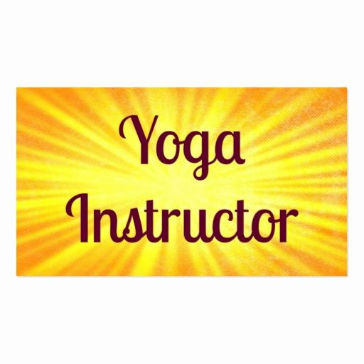 Yoga Instructor Business Card Luxury Yoga Instructor Sunshine Business Card
