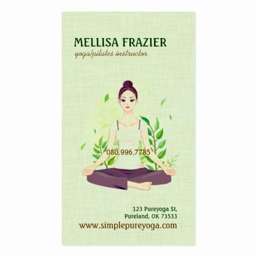 Yoga Instructor Business Card New Yoga Pilates Meditation Business Instructor Business Card