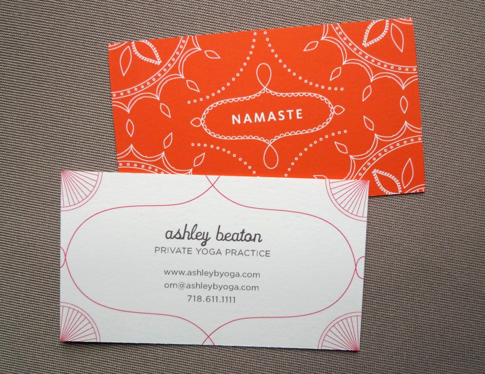 Yoga Instructor Business Card Unique 100 Custom Business Cards Yoga Calling Cards Namaste