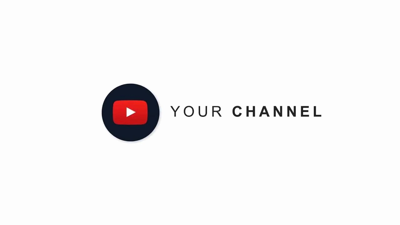 Youtube Channel Icon Template Fresh after Effects Template Simple Logo for Channel