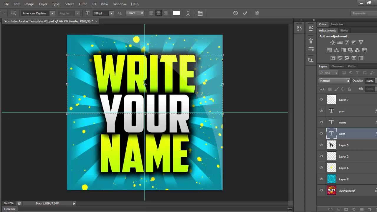 Youtube Profile Picture Template Photoshop Awesome Free Youtube Avatar Template Shop Template