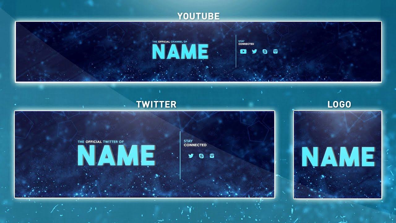 Youtube Profile Picture Template Photoshop Luxury Free Banner Template