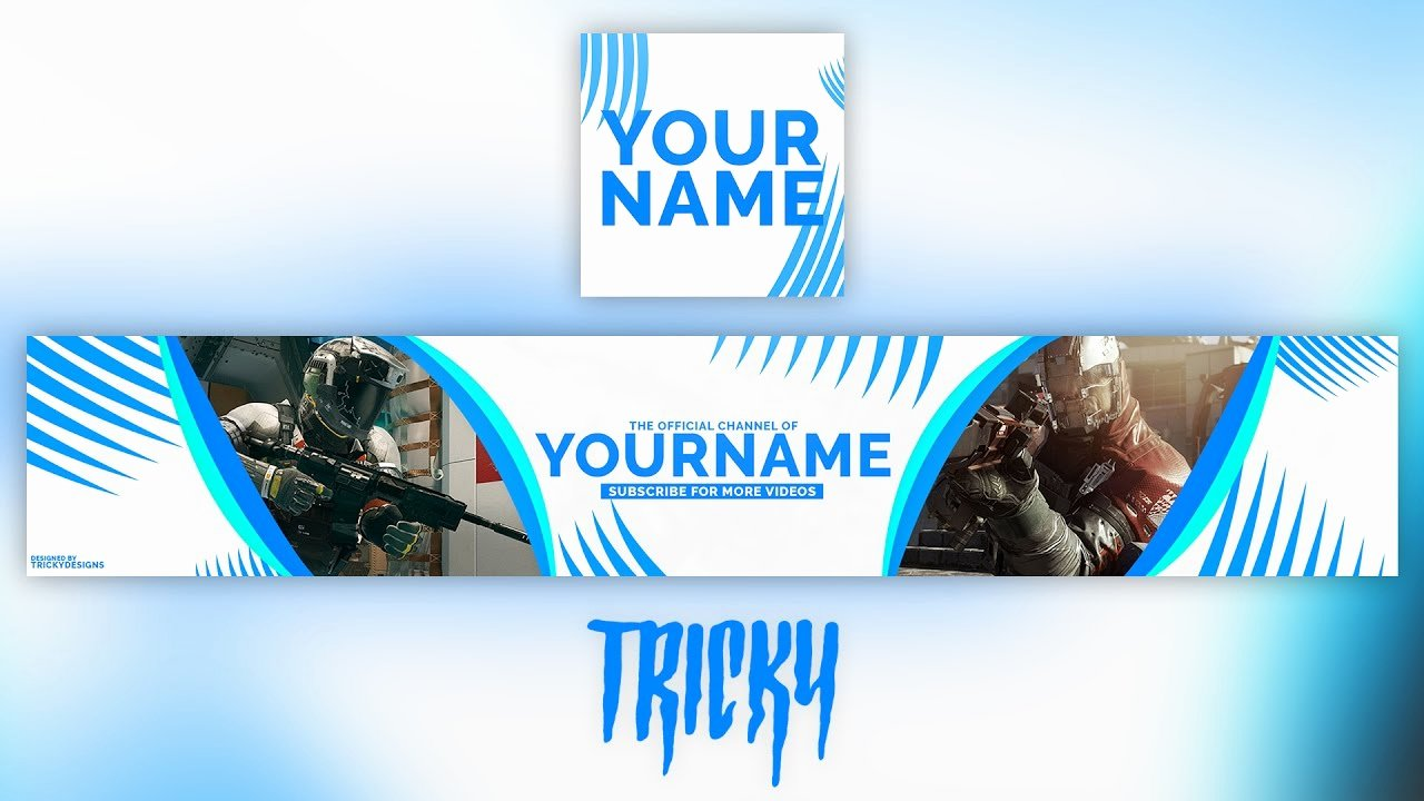Youtube Profile Picture Template Photoshop Unique Free Clean Gaming Banner Template Profile Picture Shop
