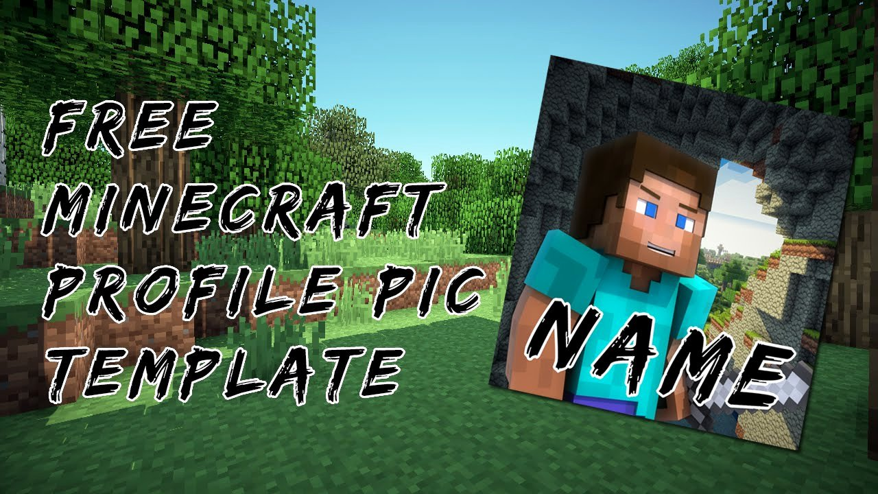 Youtube Profile Picture Template Photoshop Unique Free Minecraft Profile Picture Template Shop Download Link In Description
