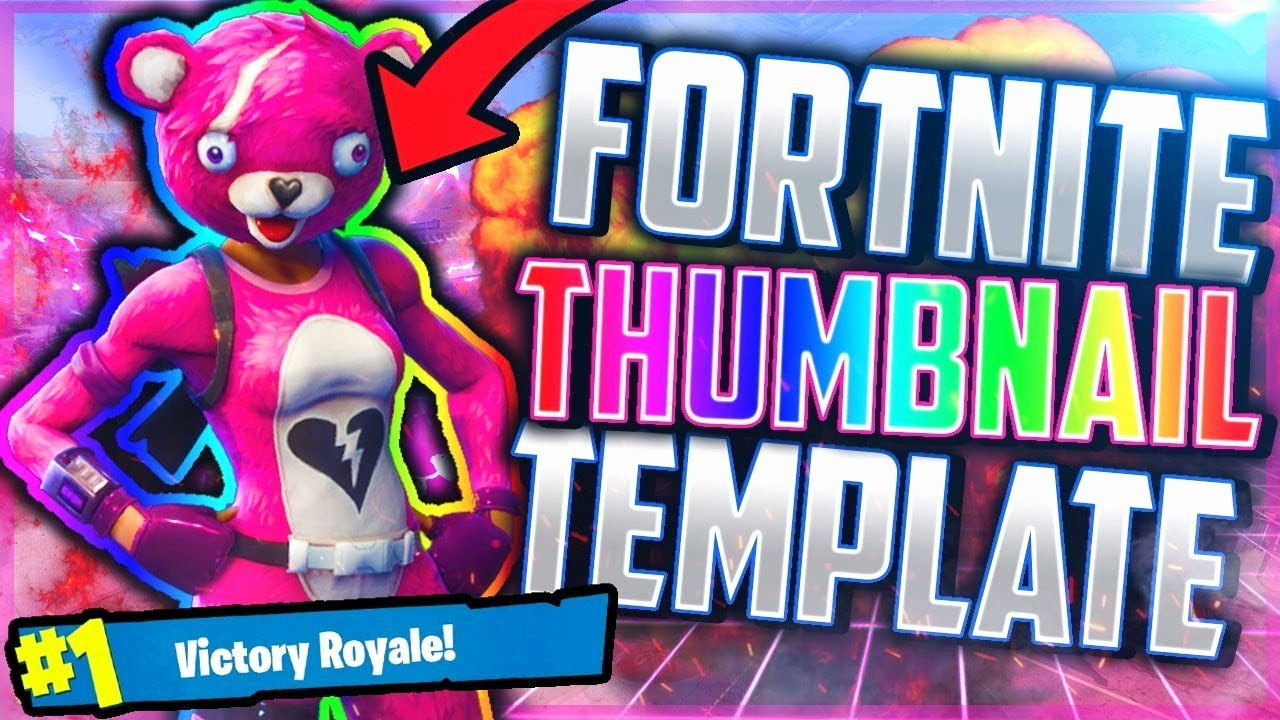 Youtube Thumbnail Template Photoshop Awesome Free fortnite Template